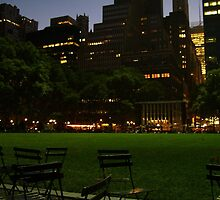 Chairs in Bryant Park by mlwaliman