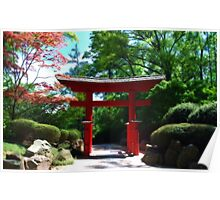 Japanese Garden Entrance Poster