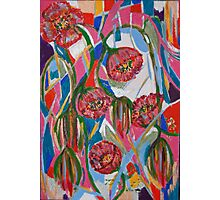 Stained Glass Poppies Photographic Print