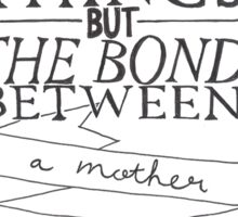 Mother & Daughter Typographic Quote Sticker