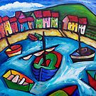 BEACH HOUSES IN WHANGAPAROA - NEW ZEALAND  by ART PRINTS ONLINE         by artist SARA  CATENA