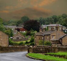 Downham Village, Lancashire by Sandra Cockayne