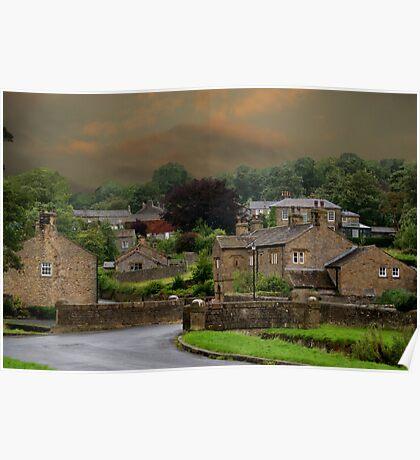Downham Village, Lancashire Poster