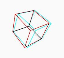 3D Red-Cyan Cube Unisex T-Shirt