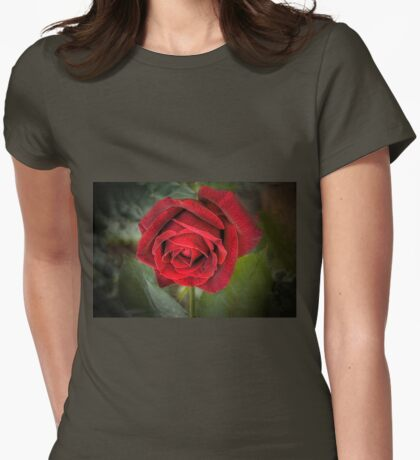 A Red, Red Rose Womens Fitted T-Shirt