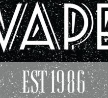 Distressed Vape Est. 1986 Badge (black) Sticker
