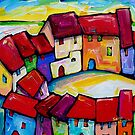CORFU , GREECE  by ART PRINTS ONLINE         by artist SARA  CATENA