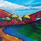 CURVING  ROAD  HOME  by ART PRINTS ONLINE         by artist SARA  CATENA