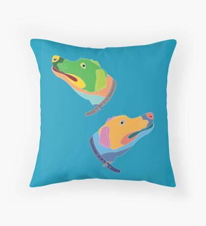 Colour Pups Throw Pillow