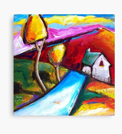 FARMHOUSE  IN  GOULOUX - FRANCE    Canvas Print