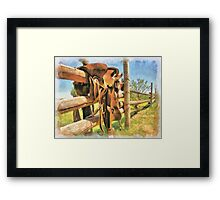 """ Paint Your Saddle "" Framed Print"