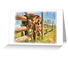 """ Paint Your Saddle "" Greeting Card"