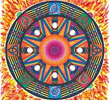 Dharma wheel 2 by Ernesto Barreiro