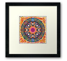 Dharma wheel 2 Framed Print
