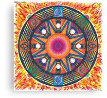 Dharma wheel 2 Canvas Print
