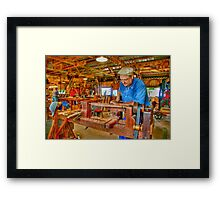 Foot Operated Wood Lathe Framed Print