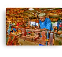 Foot Operated Wood Lathe Canvas Print