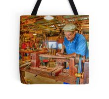 Foot Operated Wood Lathe Tote Bag