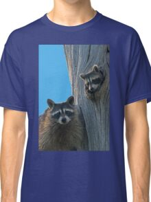Mom & Baby Raccoon Classic T-Shirt