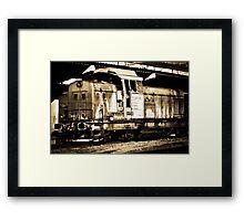 Diesel Engine Locomotive Framed Print