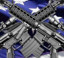 American Flag with Guns Sticker