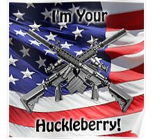 American Flag with Guns Poster