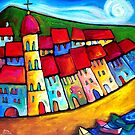 HEAVENLY  CINQUE  TERRE - ITALY    by ART PRINTS ONLINE         by artist SARA  CATENA