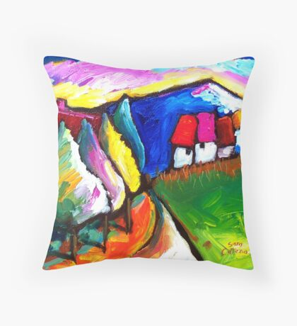 HOUSES  IN  UMBRIA - ITALY   Throw Pillow