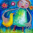 JESSIE AND THE LOVEBIRD  by ART PRINTS ONLINE         by artist SARA  CATENA