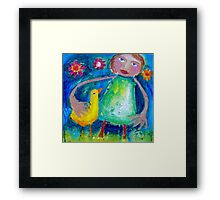 JESSIE AND THE LOVEBIRD  Framed Print