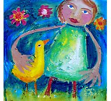 JESSIE AND THE LOVEBIRD  Photographic Print