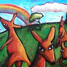 KANGAROO  DREAMS   by ART PRINTS ONLINE         by artist SARA  CATENA