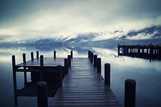 Tranquility - Lake Wakatipu NZ by Dean Mullin
