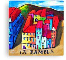 LA  RAMBLA - BARCELONA , SPAIN  Canvas Print