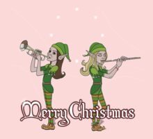 Elves Play Christmas Carols by BurrowsImages