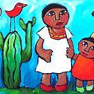 LOVEBIRDS OF MEXICO CITY  by ART PRINTS ONLINE         by artist SARA  CATENA