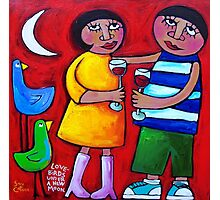 LOVEBIRDS UNDER A NEW MOON  Photographic Print