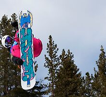 """Mount High - Big Air Snowboarding Competition, Mount High Ski Resort, California"" by Alexis  Lezin"
