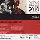"Emerging Artists Award Invitation 2010 by Belinda ""BillyLee"" NYE (Printmaker)"