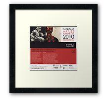 Emerging Artists Award Invitation 2010 Framed Print