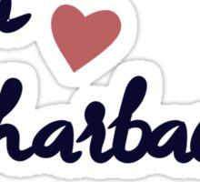 ADPI hearts Harbaugh Sticker