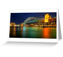 Bridge  from Walsh bay Greeting Card