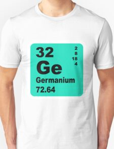 Germanium Periodic Table of Elements Unisex T-Shirt