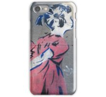 Fitzroy - Bansky-esque little girl stencil iPhone Case/Skin
