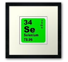Selenium Periodic Table of Elements Framed Print