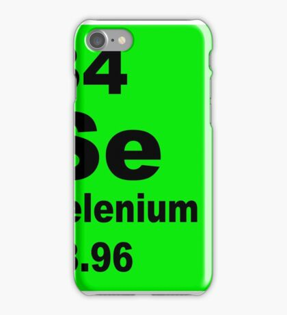 Selenium Periodic Table of Elements iPhone Case/Skin