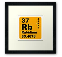 Rubidium Periodic Table of Elements Framed Print