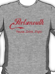 Portsmouth - Pause..Drink..Fight RED T-Shirt