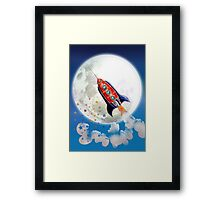 red rocket Framed Print