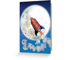 red rocket Greeting Card